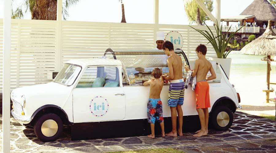 LUX* ICI ice cream cart